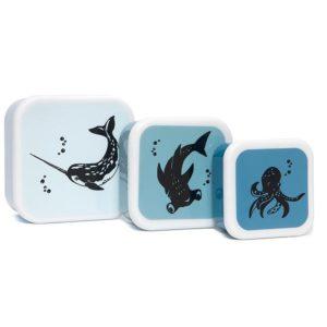 Lunchbox set Animals Blue