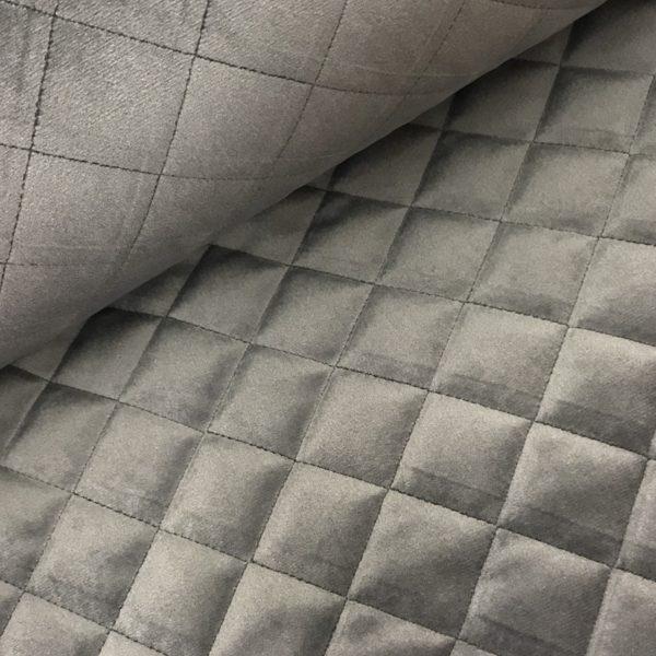 Stepped velvet grijs