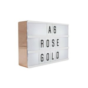 Lightbox A6 Rosé gold