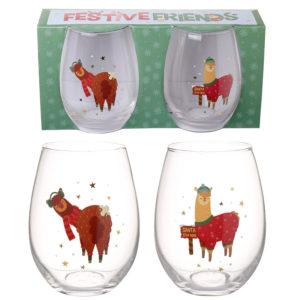 Kerstset glas Lama