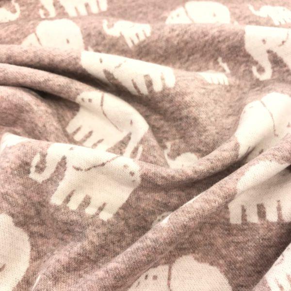 Sweater /jacquard olifant oudroze