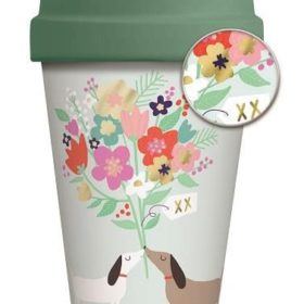 BambooCup Flowers gold/dog