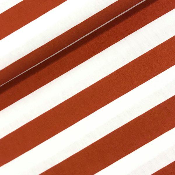 Katoen stipes white /rust