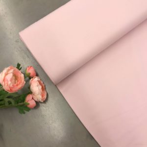 French terry effen pastel roze