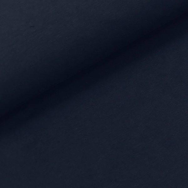 French terry effen donkerblauw