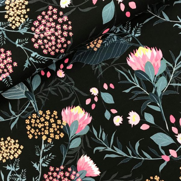 Tricot Flowers black