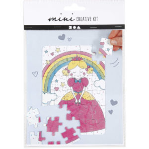 Mini creative set Puzzel Prinses