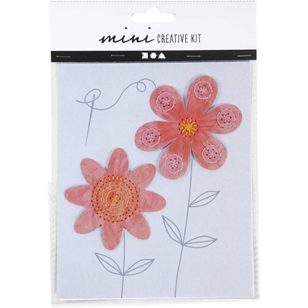 Mini creative set Borduur bloem