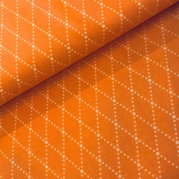 Katoen oranje ruit