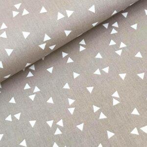 Katoen driehoekjes beige