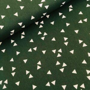 Katoen driehoekjes groen