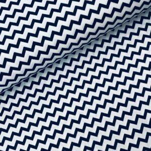 Katoen Zigzag donkerblauw