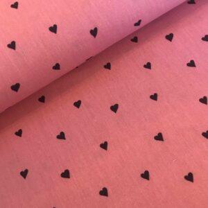 Katoen Hartjes bluch pink