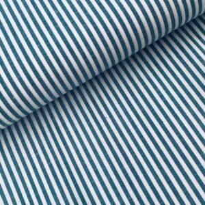 Yarn dyed stripes petrol