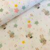 Katoen Glitter bunny pastel