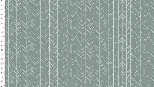 Katoen zigzag oudgroen
