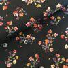 Katoen flowers black