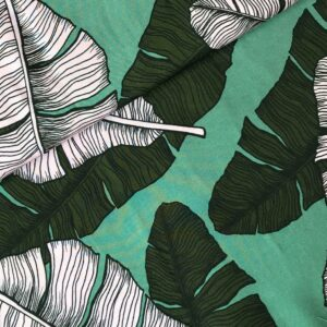 Viscose Leaves green