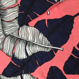 Viscose Leaves pink