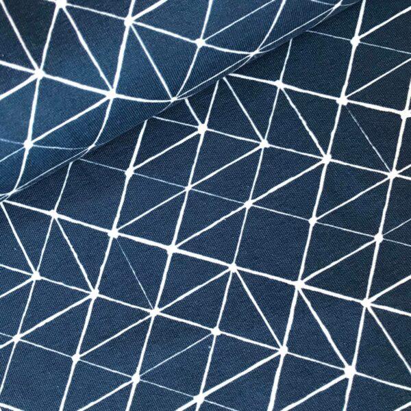 Tricot geo print blauw