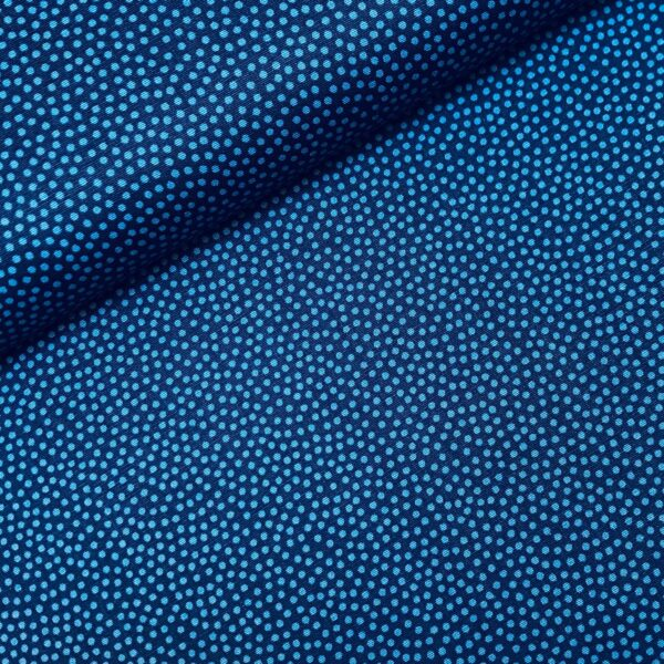 Katoen dotty blauw