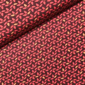 Tricot Woody little leaves red
