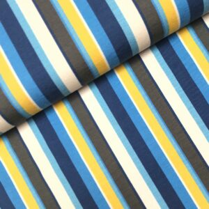 Tricot Woody stripes blue