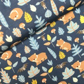 Tricot Woody animals blue