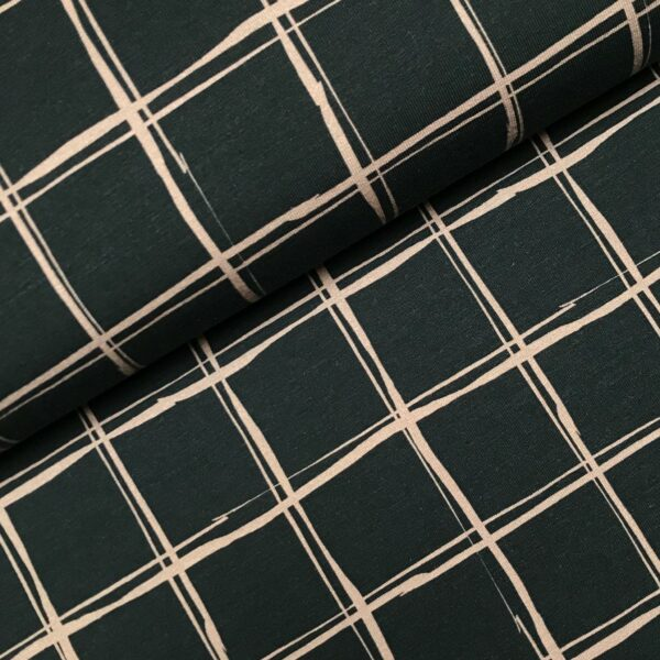 Sweater grid black/beige