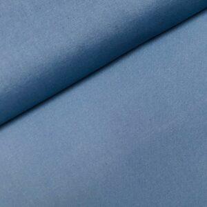 Katoen effen dusty blue