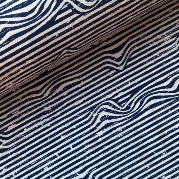 Tricot lijntjes blauw
