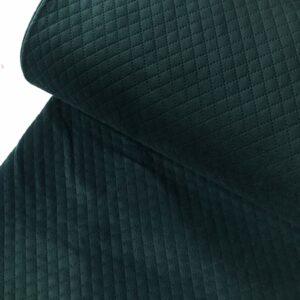 Doorstikte velvet smaragd groen