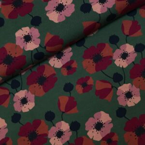Tricot Nevio flowers green