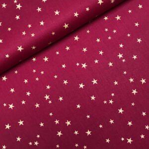Katoen Christmas stars red