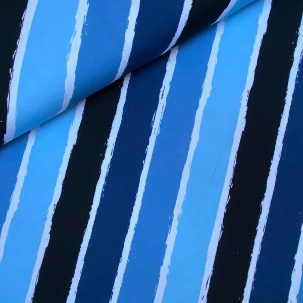 Sweater stripes diagonal blue