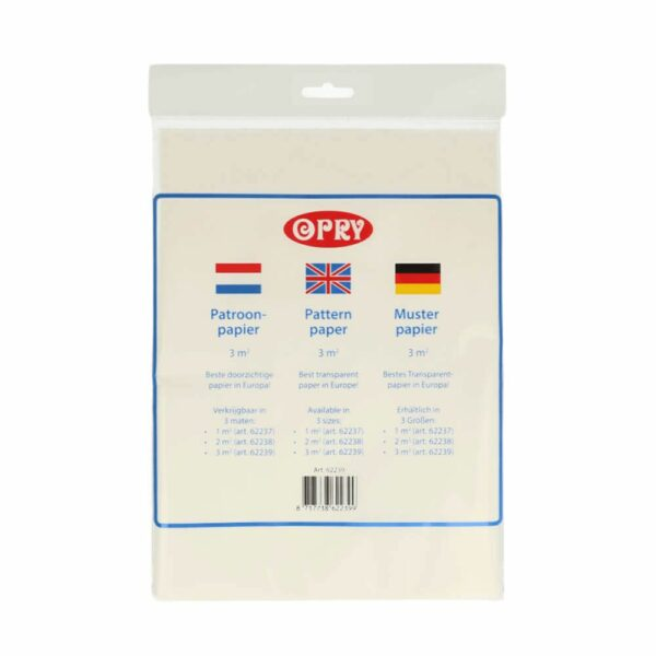 Opry patroonpapier transparant 3m2