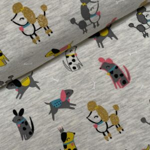 Tricot fun dogs glitter