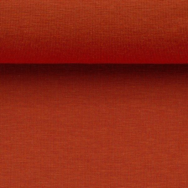 Effen tricot terracotta
