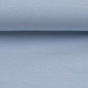 Effen french terry pastel blauw