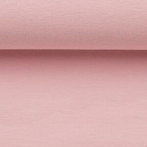 Effen french terry pastel roze
