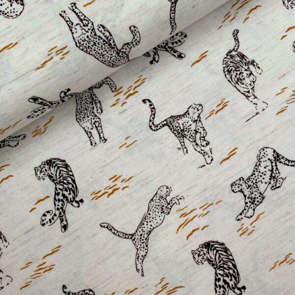 Viscose linnen cheetah
