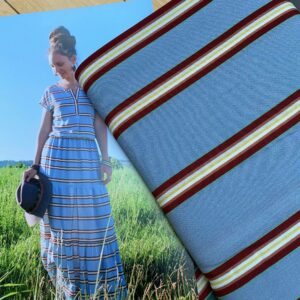 Viscose stripes blue