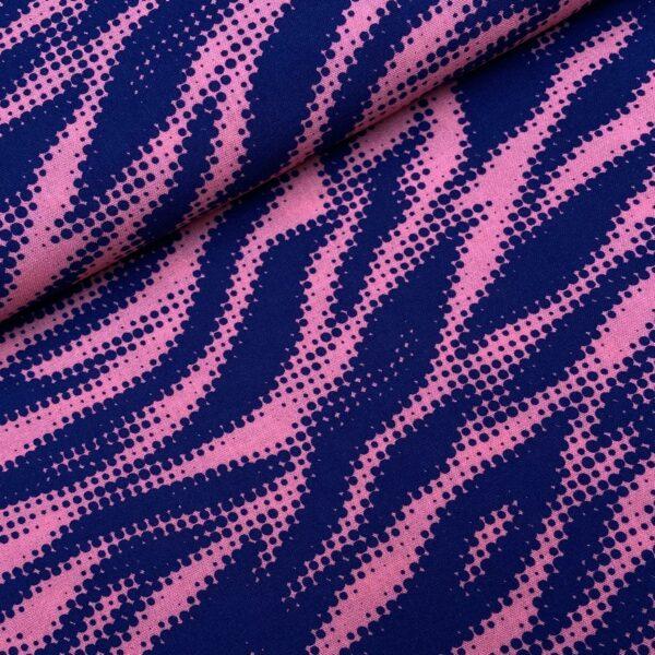 Viscose Tiger pink/navy
