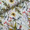 Viscose soft touch bloemen ecru