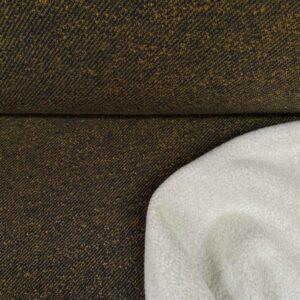Sweater piet zwart/oker