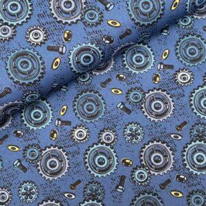 Katoen Happy metal blue
