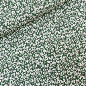 Viscose green little flower