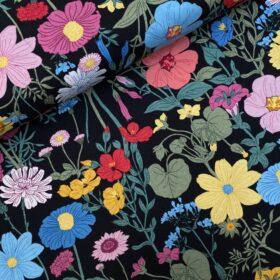 Tricot Vintage botanical black
