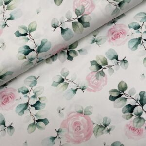 Tricot Eucalyptus roses