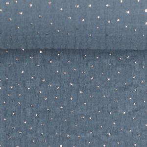 Tetra blauw zilver dots